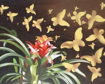 Butterflies 11x17 print signed by artist RUSTY RUST / B-105-P