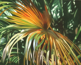 Palm Fronds 11 x 17 print (image 10.5 x 14.25) personally signed by artist RUSTY RUST / M-168-P