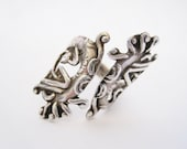 Vintage Mexican Ring - Eagle Jewelry from Mexico - Bypass Sterling Ring - Taxco Silver - Size 8 - Mexican Jewelry - Dragon Ring