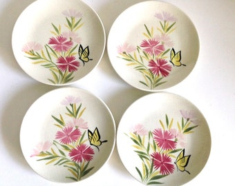 Red Wing Pink Spice Saucers - Set of 6