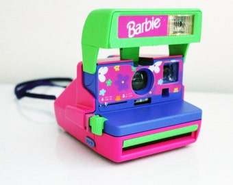 RARE Vintage Barbie Polaroid 600 Instant Camera Tested and Works Photography Pink Purple