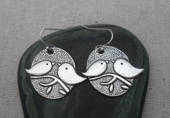 Silver Bird Earrings -  Swallow - Sparrow - Bird Jewelry - Love Birds - Simple - Everyday - Earrings - Unique & Fun Jewelry