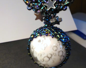 Moon and Stars Sphere Necklace
