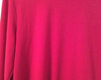Long sleeve shirt large Esprit Rosy red color poly/spandex  soft