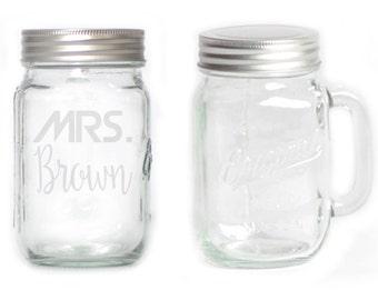 Mason Jar  Mug - 15 oz. small  2738 Mrs.Daydreamer Personalized