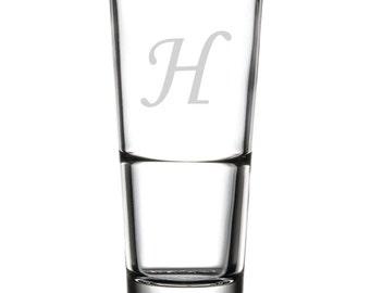 Drinking Glass - 16 oz. - 10509 Monogram Monotype Corsiva