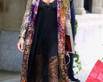 Our original design The Sex and the City Coat Italian silk brocade boho chic coats Sara Jessica Parker mother of the bride fall wedding coat