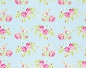 Zoey Rose in Blue pwtw119 - ZOEY'S GARDEN by Tanya Whelan for Free Spirit Fabrics - By the Yard