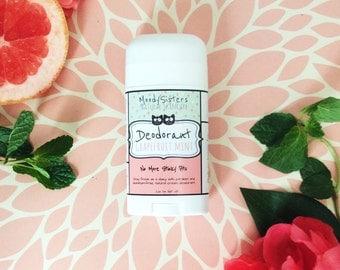 Organic Vegan Deodorant - Grapefruit Mint Natural Organic Deodorant - Moody Sisters Vegan Deodorant
