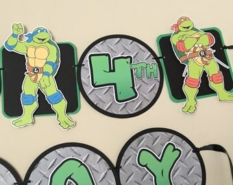 TMNT Birthday Party Banner - Teenage Mutant Ninja Turtles