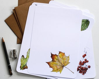 Leaves & Trees Letter Writing Set - Illustrated Writing Paper