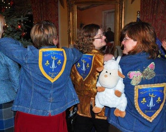 custom krewe jacket- Joan of Arc