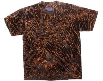 M Shibori Men's Tie Dye T Shirt Black Iron-Rust