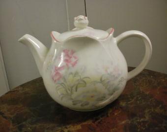 Windsor Tea Pot, English Tea Pot,Pink flowered Tea pot,