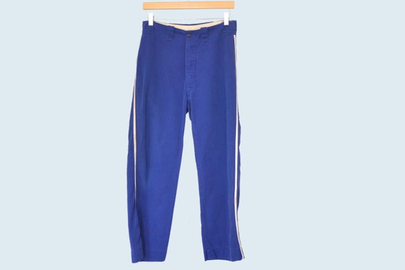 1940s Blue Sports Pants size M
