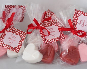 10 Valentine Hearts Party Favor Soaps-20 soaps