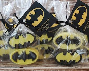 10 Batman Party Favor Soaps: Birthday Favors, Batman Soaps, Wedding Favors, Bridal Shower Favors, Baby Shower Favors