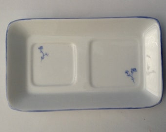 Vintage Porcelain Tray, Trinket Dish, Signed