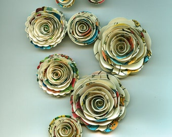 ABC's Inspired  Handmade Spiral Rose Paper perfect for a Nursery, Preschool or Gift
