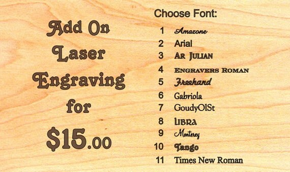 PERSONALISE IT - Custom Laser Engraving 15 dollars - Words, engraved on Masterpiece product only, Paul Szewc