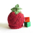 Strawberry Hat - Baby Size - Organic Cotton - Ready to Ship