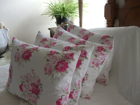 How To Make Shabby Chic Throw Pillows : Shabby chic Throw pillow