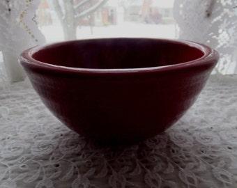 Vintage Beet Red Stone Ware Stoneware Mixing Bowl