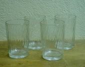 Four Vintage Swirl Snuff Glasses Reserved for Robin