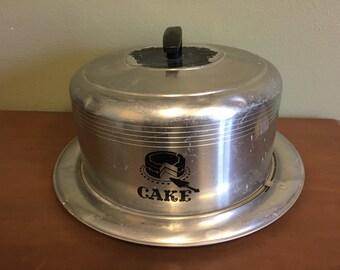 Aluminum West Bend Cake Carrier
