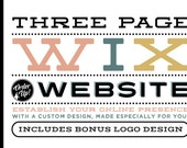 3 page CUSTOM WIX WEBSITE Design Package - Three Page Custom Website Design - Wix WebDesign Package