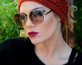Cable Headband - Burnt Red Head Band - Cable Knitted Headband - Ear Warmer