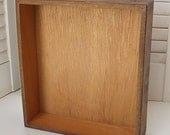 Vintage Wood Box, Shadow Box, Mixed Media Assemblage Base, Accessory Box, Ready to paint or embellish