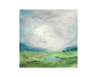 Mountain Watercolor Painting , Mountain Art, Mountain Painting, Landscape Painting, Minimalist Art, Watercolor Landscape, Home Decor Art