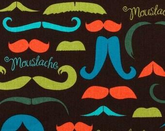 It's a Moustache - Cotton Quilting - BTY