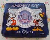 Japanese Disney Ambassador Hotel Tin Box.80s