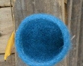 Oh So Tiny Felted Bowl in Deep Turquoise