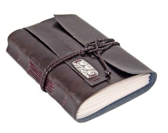 Dark Brown Faux Leather Journal - Travel Journal - Lined Pages - Prayer Journal - Diary - Ready to Ship - Bound Journal -