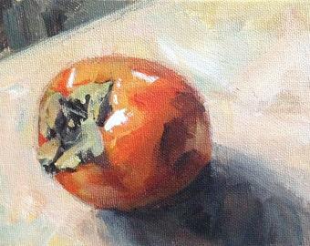 Hachiya Persimmon - Original 5x7 inch Acrylic Painting