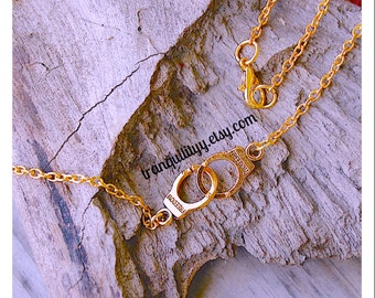 Gold Handcuff Necklace , Glam Gold  Handcuff Necklace / choker Handmade By: Tranquilityy