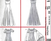 McCalls 4421 Costume Pattern Medieval Renaissance Gown Dress Gothic SCA Size 14, 16, 18 and 20
