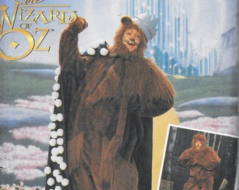Simplicity 7833 Wizard of Oz COWARDLY LION Adult Costume Sewing Pattern Size S, M L The Whiz UNCUT