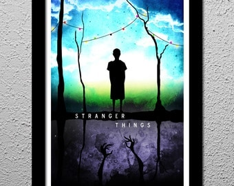 Stranger Things - Eleven - The Upside Down Art Poster Print