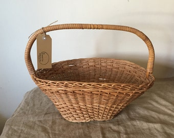 Beautiful 1wicker flower basket. My French Home / My Vintage Home.