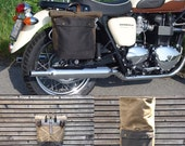 Motorbike bag /motorcycle bag /  bicycle bag in waxed canvas  /  bike accessories