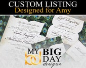 Amy's Wedding Invitation suites: 75, with white envelopes