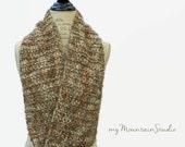 Women's Handmade Infinity Scarf Cowl Cobblestone Swirl