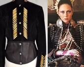 Vintage 'Native American'  Black Suede Jacket by Diamond Leathers - Circa 1980s