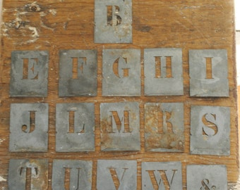 French zinc stencils- choose your letter