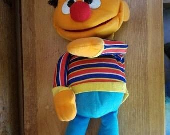 "REDUCED VINTAGE 1986 Playskool Ernie 18"" Hand Puppet"