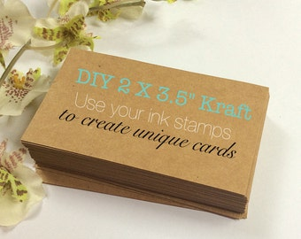 50 DIY Blank Kraft Business Cards